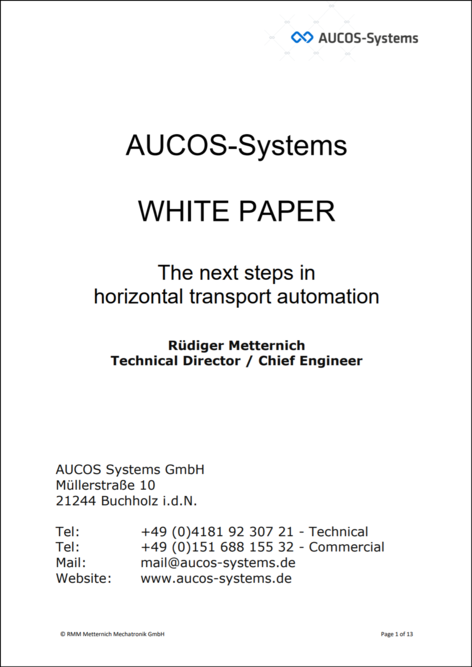 Whitepaper: The next steps in horizontal transport automation