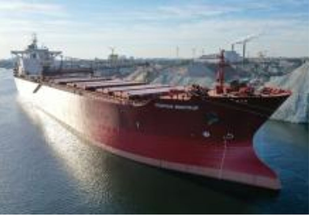 Record-breaking vessel at Antwerp Stone Terminal