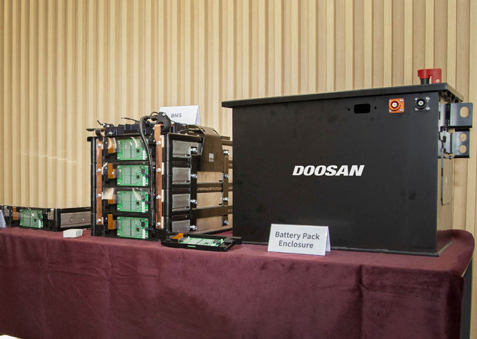 The company's first battery pack prototype