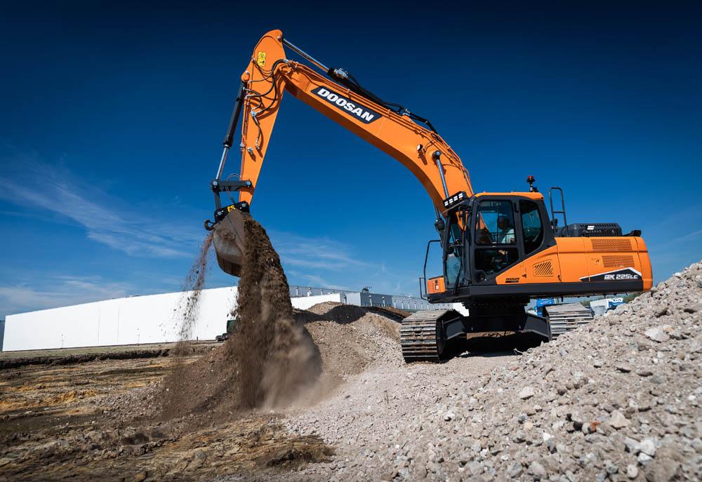 New DX225LC-7 crawler excavator from Doosan