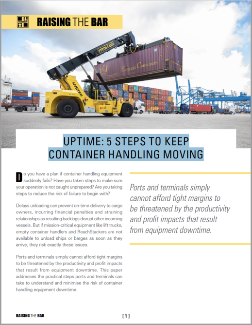 Whitepaper: Uptime: 5 Steps to Keep Container Handling Moving