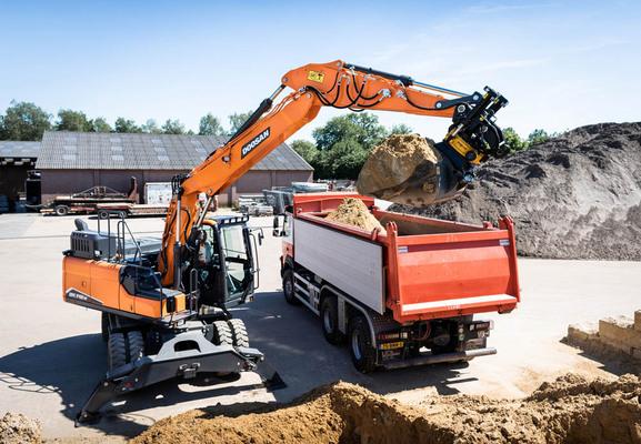 New Stage V Doosan wheeled excavators