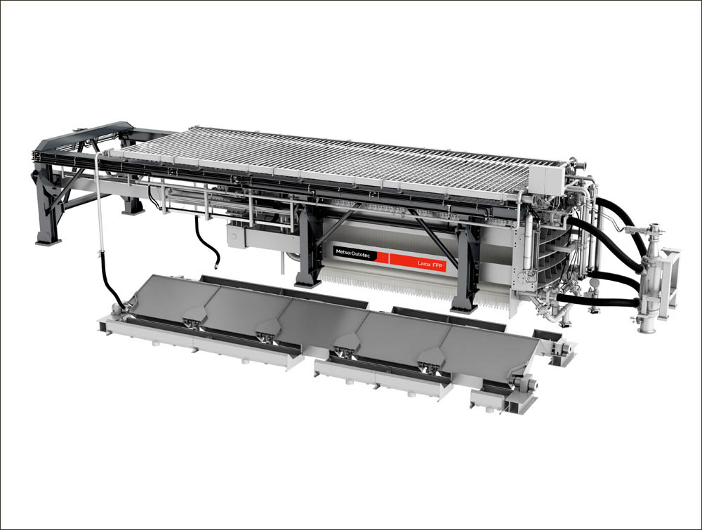 Metso Outotec will supply Larox FFP3512 as primary filtration equipment
