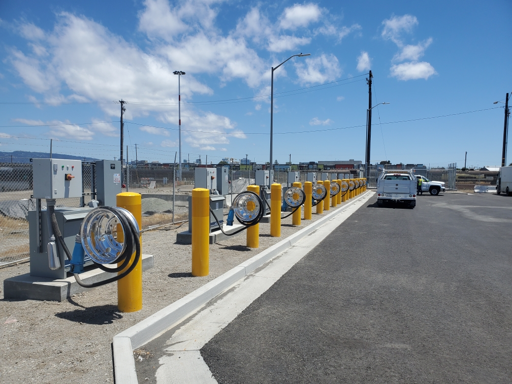 The Port of Oakland has installed 10 new EV charging stations for drayage drayage trucks at STE.
