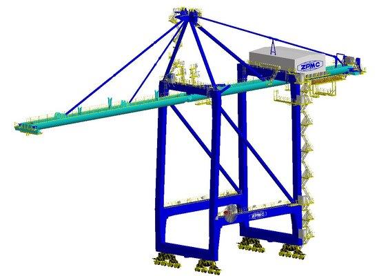 ZPMC semi-circular girders for Haikou Port STS cranes