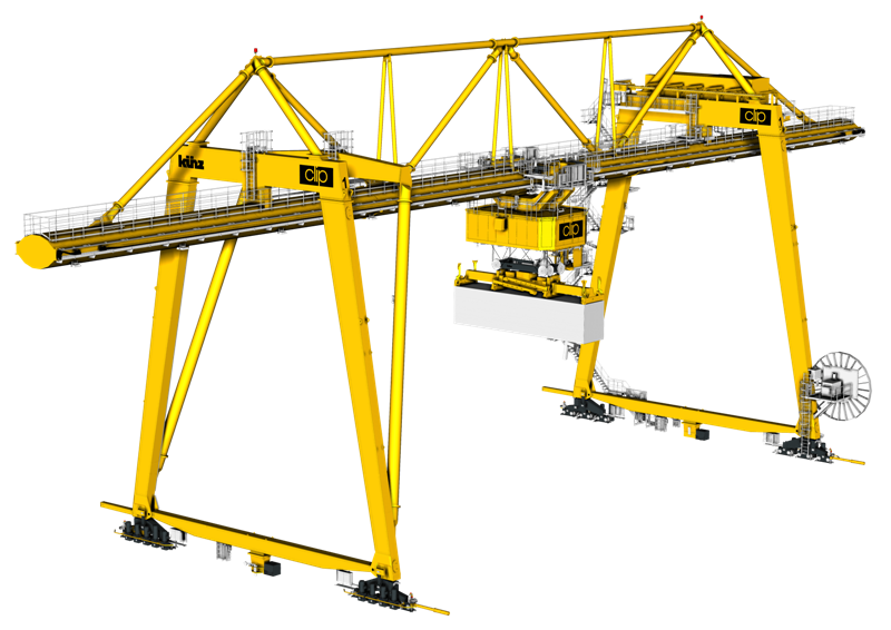 The ovoid-shape of the main girder reduces mass and wind load and hence power consumpton