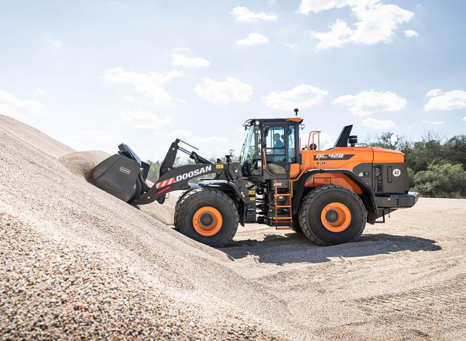 Doosan introduces new DL420CVT-7 wheel loader