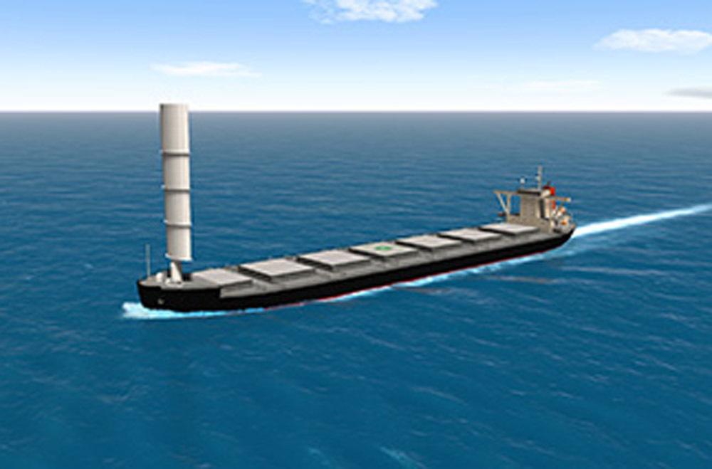 Wind Challenger sail for MOL/Tata Steel bulker