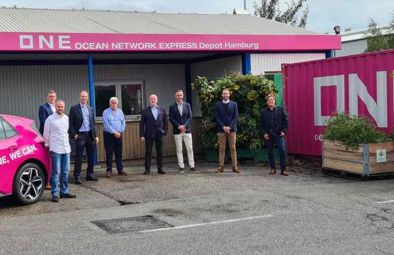 ONE opens container depot in Hamburg