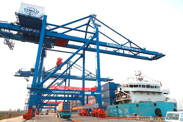 SANY cranes for automated CSP Wuhan Intermodal Terminal
