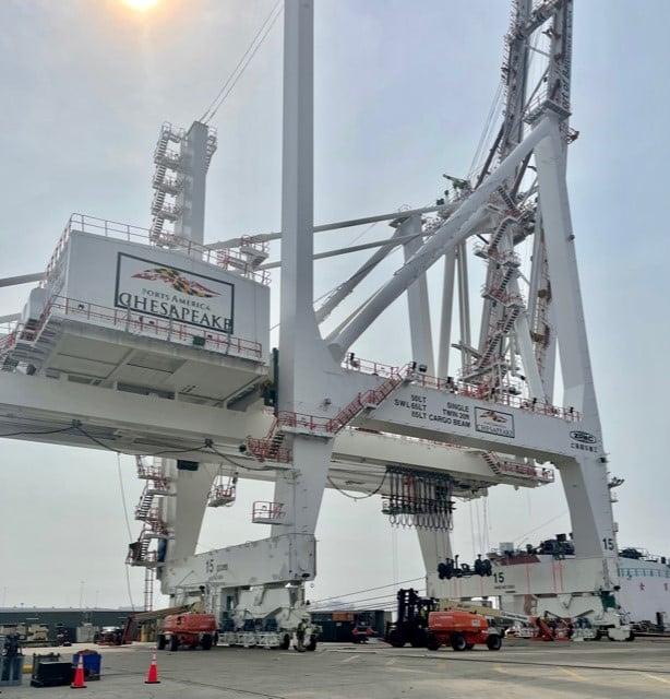 Cranes arrive in Baltimore